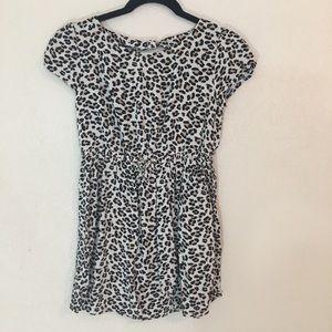 Animal print girls comfy dress size 10/12 large